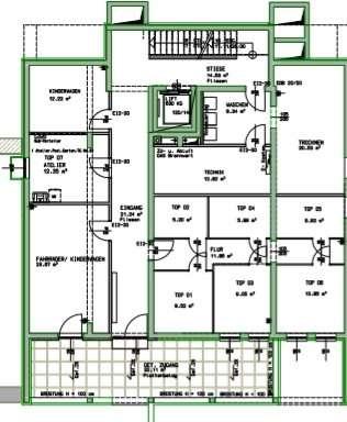 Eingangsbereich barrierefrei mit Keller und Allgemeinflächen