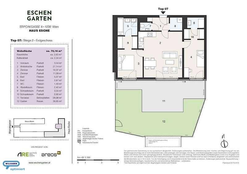 Eschengarten Verkaufsplan Haus Esche Stiege 2 Top 7