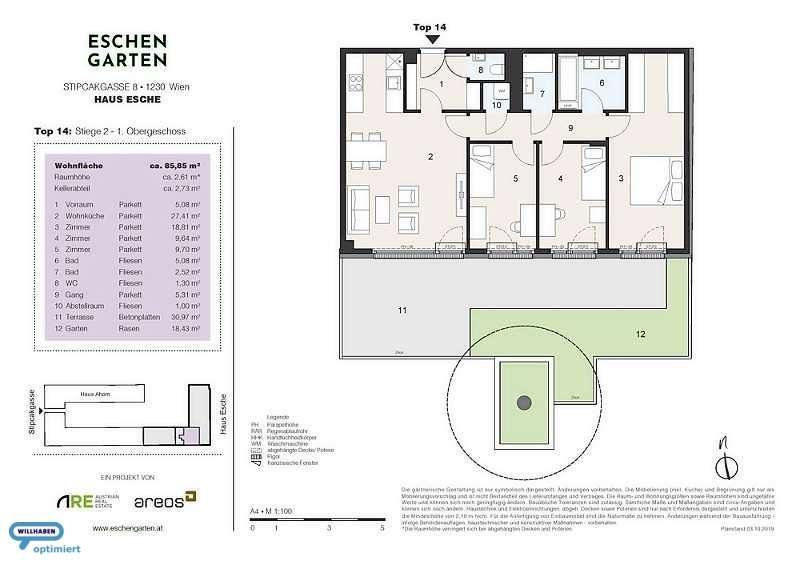 Eschengarten Verkaufsplan Haus Esche Stiege 2 Top 14