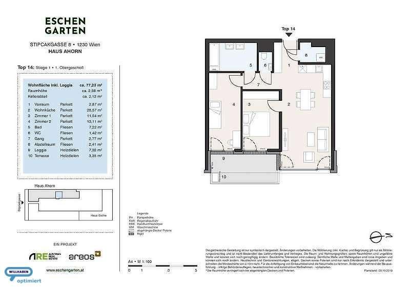 Eschengarten Verkaufsplan Haus Ahorn Stiege 1 Top 14