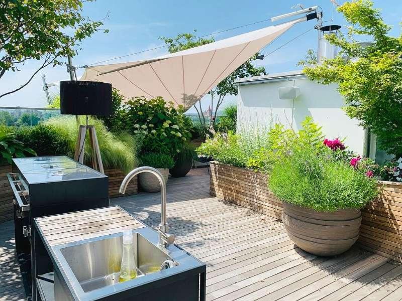 Sommerküche Dachterrasse