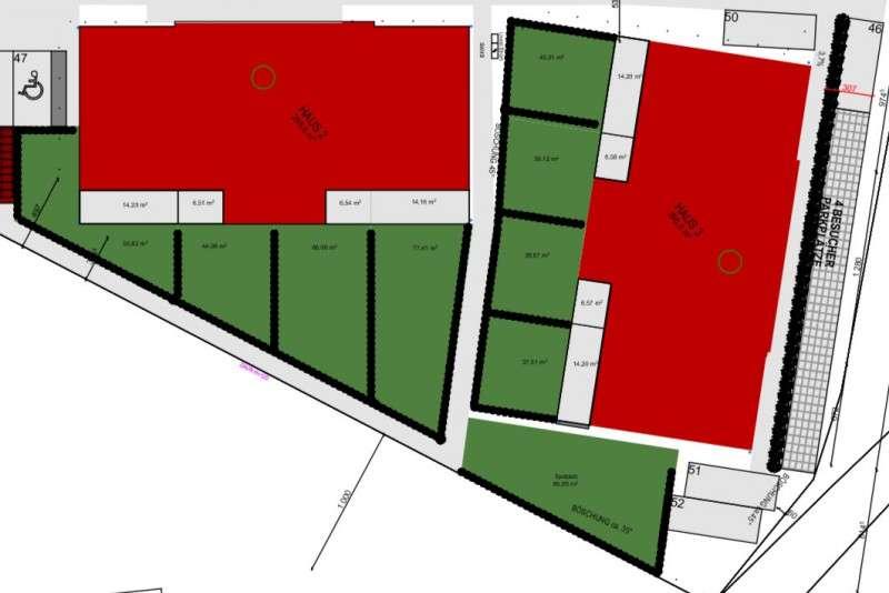 Gartenplan f. Haus 2 und 3