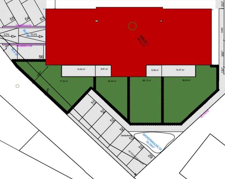 Gartenplan für Haus 1
