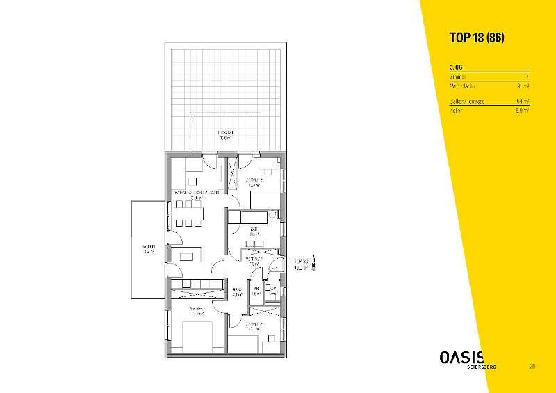 OASIS Seiersberg - 3. OG - 91 m² - 4 Zimmer - provisionsfrei - Erstbezug