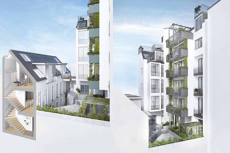 Visualisierung: Innenhof