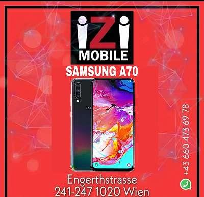 SAMSUNG A70 128GB SCHWARZ NAGELNEU WERKSOFFEN/ iZiMobile