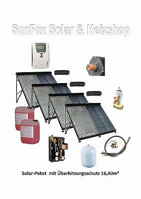 Solar-Paket mit Überhitzungsschutz 16,40 m²
