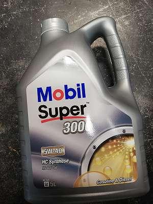Motoröl Mobil Super 3000 HC Syntetic 5W40 5 Liter 27 euro