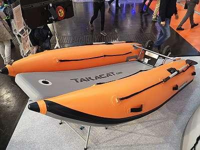 Takacat T300LX Katamaran Schlauchboot - Ideal auch mit Torqeedo Travel 1103 CS im Set