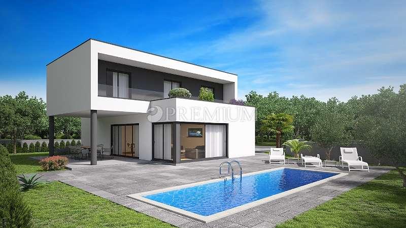 Malinska, Verkauf, moderne Villa von 163 m2 mit Pool und herrlichem Meerblick!