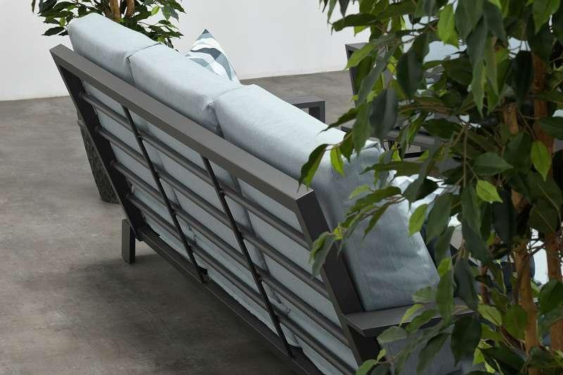 Lincoln Lounge carbon black / mint grey Gartenmöbel Sitzgruppe Bank Tisch Stuhl GI62366GT / GI62339GT / GI62362GT