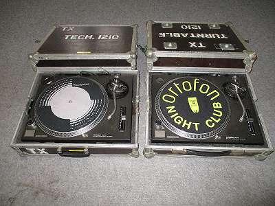 Verkauf gebrauchte Plattenspieler Turntable Technics nur paarweise im Case Paket