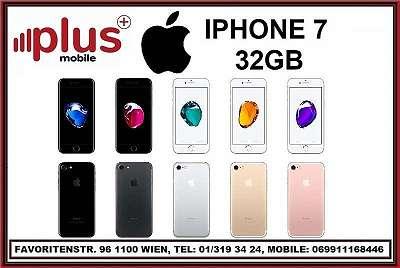 IPHONE 7 32GB ALLE FARBEN , GEBRAUCHT, IN GUTEN ZUSTAND, WERKSOFFEN, GARANTIE, PLUS MOBILE !
