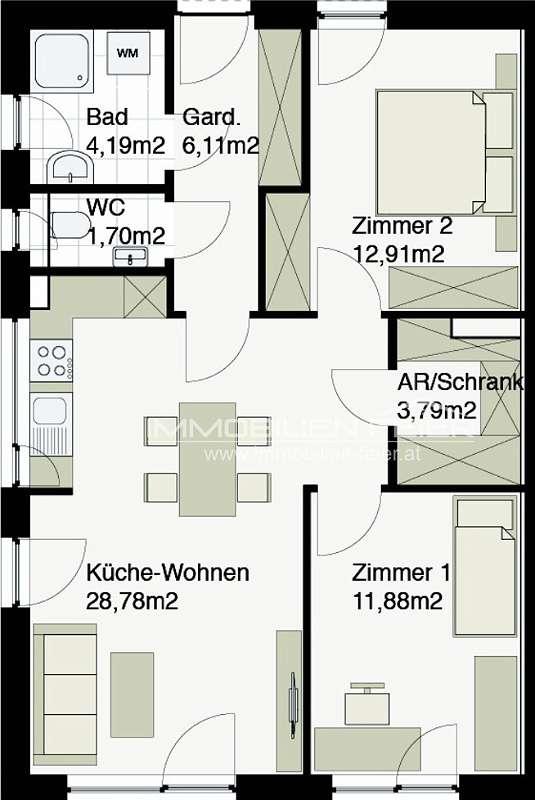 Eckgartenwohnung ! Exclusive Wohnanlage in absoluter Bestlage nähe Therme! A-Top 1