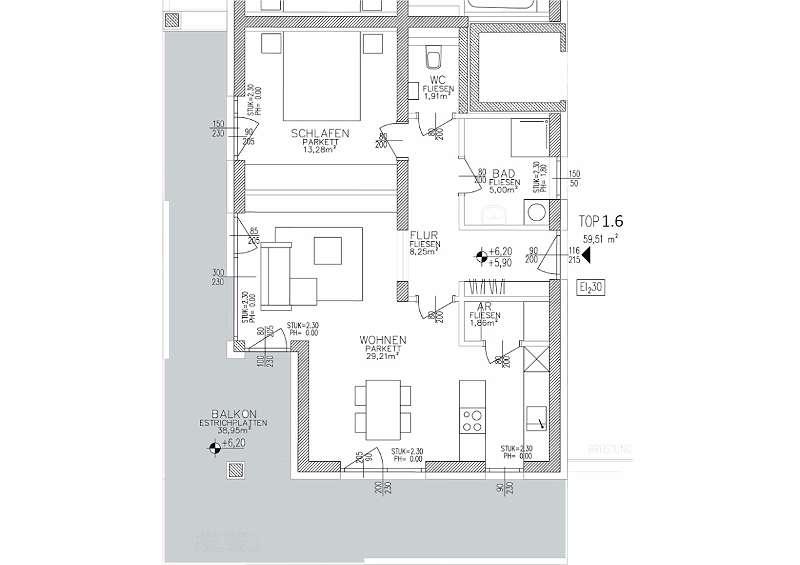 SMART CITY LIVING - ERFÜLLEN SIE IHREN WOHNTRAUM IN HART/ GRAZ-PACHERN PENTHOUSE 1.6