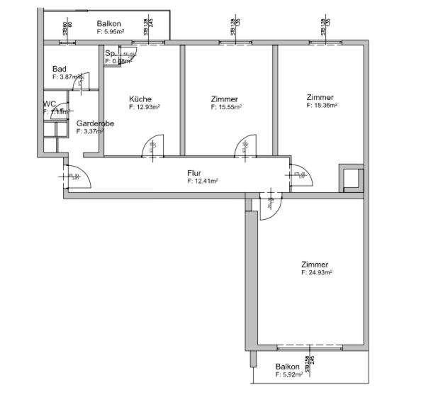 Erstbezug- nach Sanierung- familienfreundliche 4-Zimmerwohnung - Nähe Merkur-Arena Eduard-Keil-Gasse