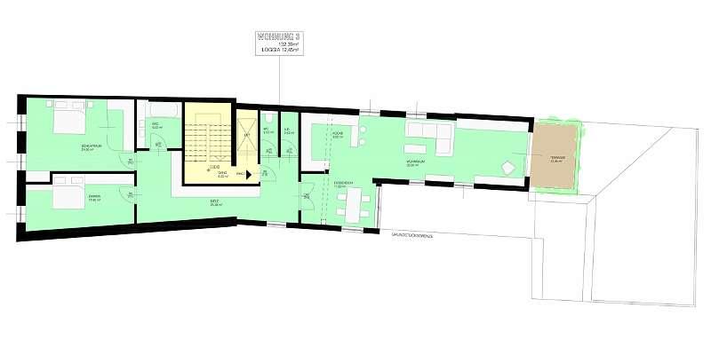 Projekt B: 3. Obergeschoss