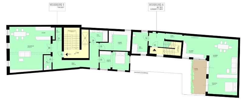Projekt B: 1. Obergeschoss