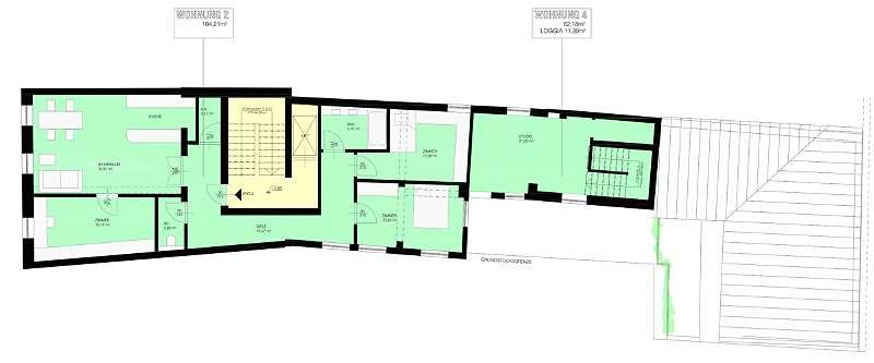 Projekt B: 2. Obergeschoss