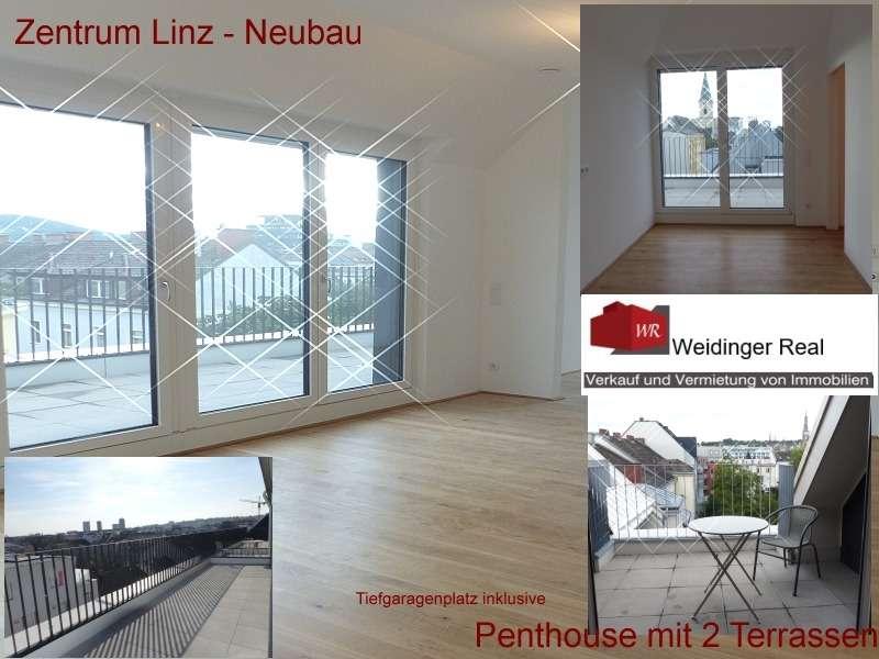 **Penthouse Wohnung Neubau Zentrum Linz, 2 Terrassen ! **