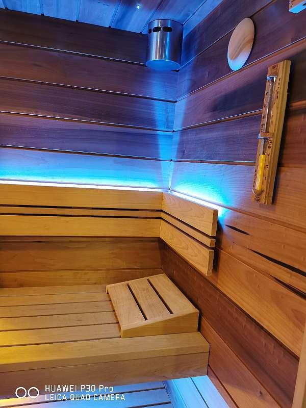 """Luxus Bio Kombi Sauna """"Magnolia 5:1"""" 220x220x210 für 3-5 Personen! TOPAUSSTATTUNG! Hoche Qualität - Echte Tischlerarbeit!"""