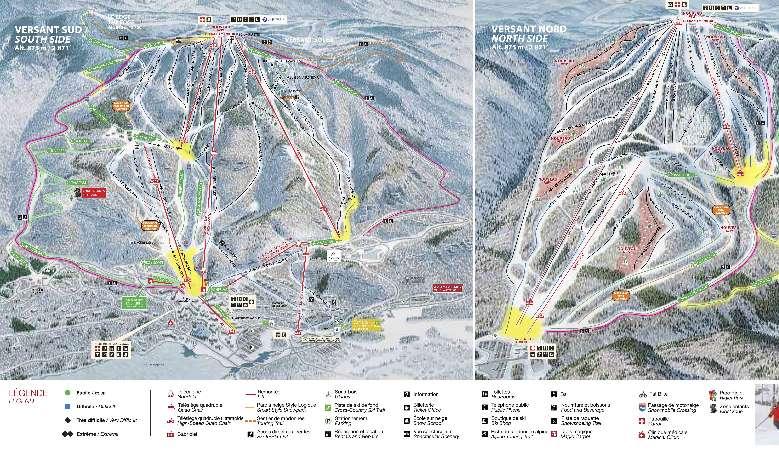 Das Skigebiet Mont Tremblant