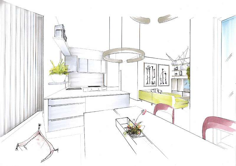 Möblierungsvorschlag Wohnküche