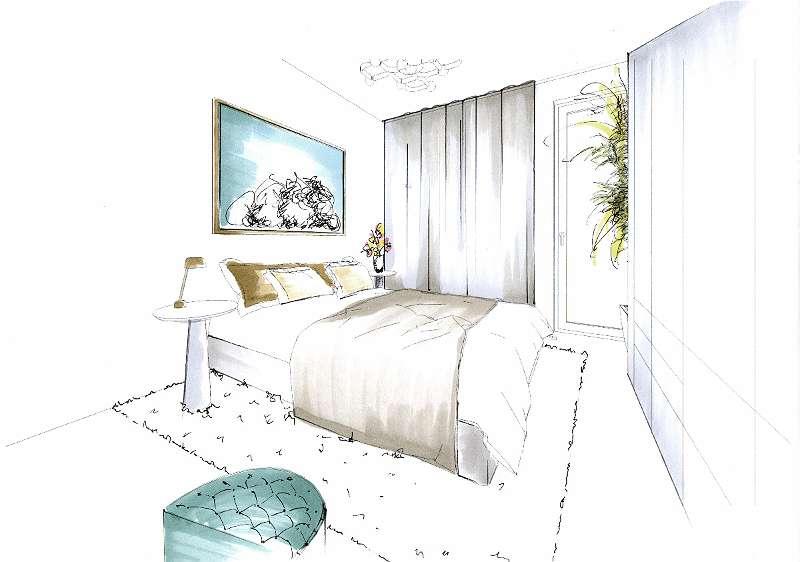 Möblierungsvorschlag Schlafzimmer