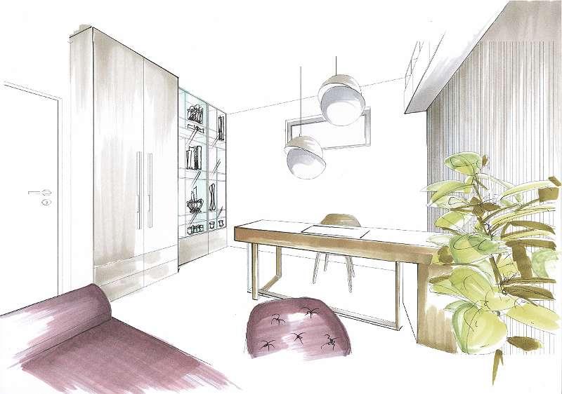 Möblierungsvorschlag Büro/Gästezimmer