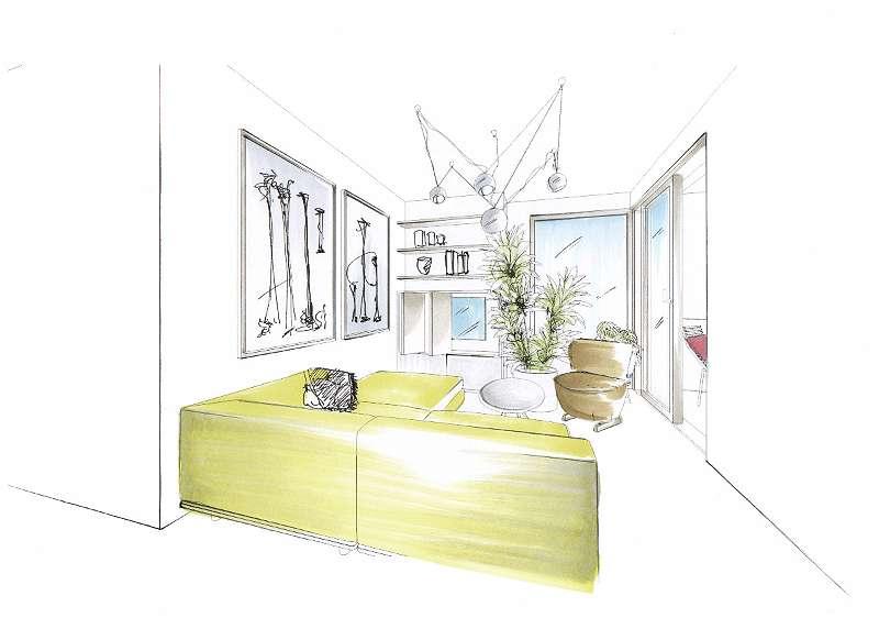Möblierungsvorschlag Wohnzimmer