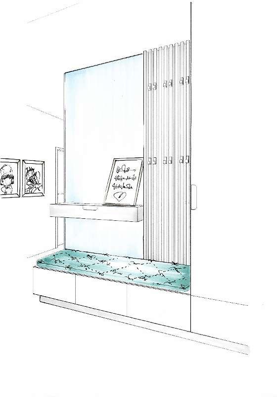 Möblierungsvorschlag Garderobe
