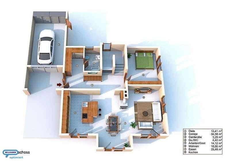 Ergeschoss Designvilla Pool Position