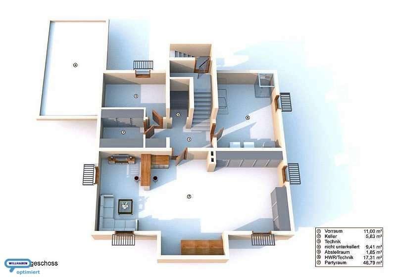 Kellergeschoß Designvilla Pool Position