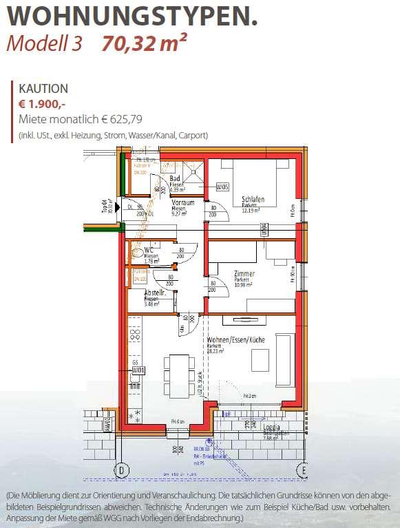 Erstbezug: Wohnung, 55 m², Sommersbergseestraße 446-448 in Bad Aussee (mit Balkon oder Terrasse)