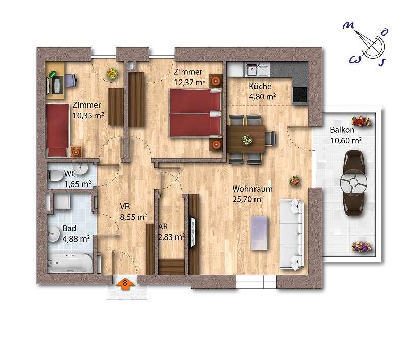 Wohnhaus E TOP 8