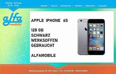 APPLE IPHONE 6S MIT 128 GB SPEICHER IN DER FARBE SCHWARZ , GEBRAUCHT GUTER ZUSTAND , OFFEN FÜR ALLE NETZE , IHR ALFAMOBILE TEAM!
