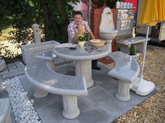 Granit Sitzbank und Natursteine Sitzgarnitur