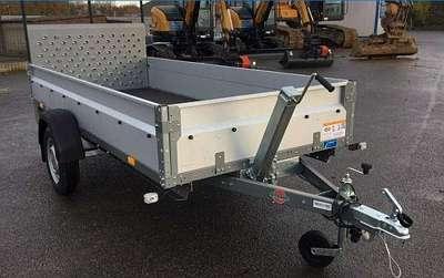 Pkw Anhänger Tieflader Kipper 3 x 1,28 m 750 kg (auch mit 1300kg)