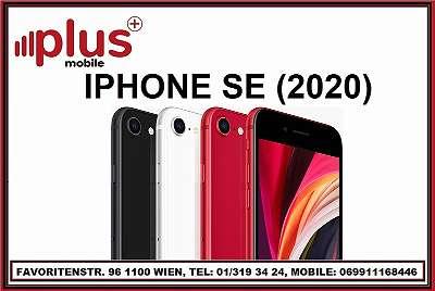 IPHONE SE (2020) 64GB ALLE FARBEN, OVP, NEU, WERKSOFFEN, GARANTIE, PLUS MOBILE !