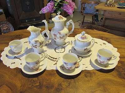 Antikes Kaffeeservice - Porzellan