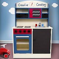 JOIN-SHOP Kinderküche Spielküche aus Holz Kinderspielküche Spielzeugküche Holzküche Küche