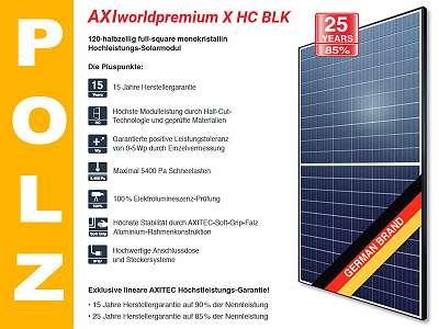 Premium 340 Wp Solarmodul Photovoltaik AXITEC HC AC-340MH/120S ...