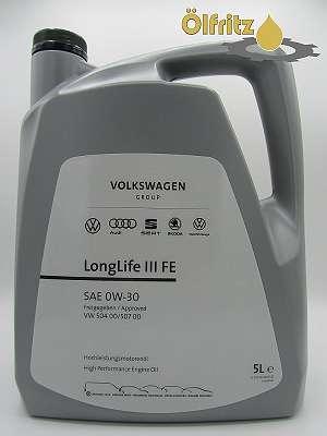 Original VW High Performance LongLife III (VW 504.00 / VW 507.00) FE 0W-30 Motoröl 5l Kanne