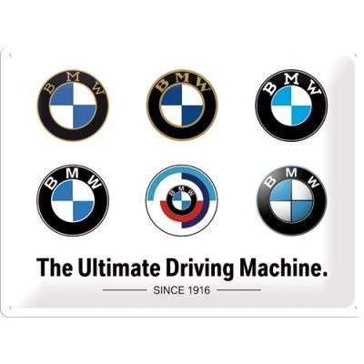 BMW - Logo Evolution - Metallschild