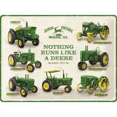 John Deere - Nothing Runs Like A Deere - Metallschild