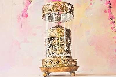 Zauberhaftes Windlicht-Karussell – ein tolles Lichtspiel für alle Jahreszeiten im Vintagelook / Licht Lampe Leuchte Kerzenständer Laterne Windlicht Terrasse Balkon Küche Wohnzimmer Tafel nostalgisch Shabby Landhaus Brocante Bohemian Style