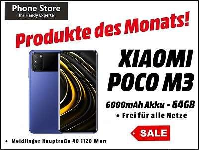 Xiaomi Poco M3 64GB /4GB RAM Cool Blue / Nagelneu, Org. Versiegelt/ Werksoffen, Frei Für Alle Simkarten/ Mit 12 Monate Hersteller Garantie/