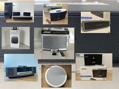 Wir verkaufen neuwertige und gebrauchte BOSE Soundsysteme (SoundTouch Mini, Bose SoundToch, Bose SoundDock, Bose SoundTouch Poratable, Bose 3-2-1, Wave Music System iii)   mit Rechnung und Gewährleistung