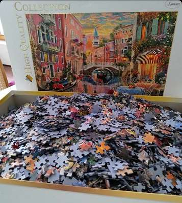 6.000 Teile Puzzle inkl. Puzzle Teppich