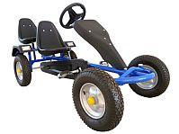 2-SITZ Rennkart Go-Kart Gocart Kinder Tretauto Cart Gokart Kinderfahrzeug Blau JU24501